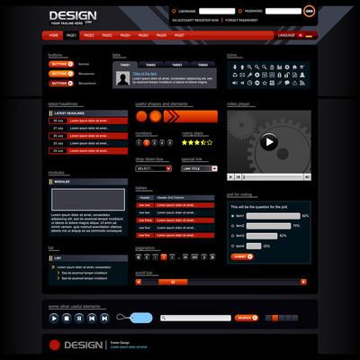 网页设计元素模板