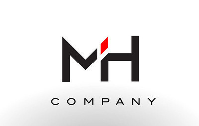 MH Logo.  Letter Design Vector.