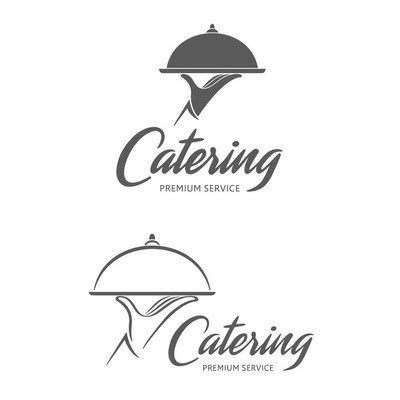 矢量 logo 设计。餐饮服务