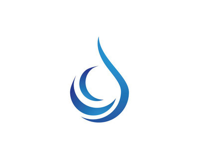 水滴 Logo 模板矢量插图设计
