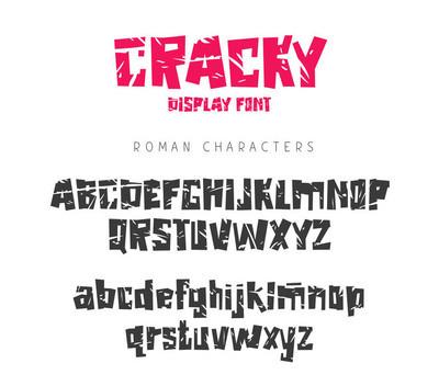 刻字, 排版。英文字母