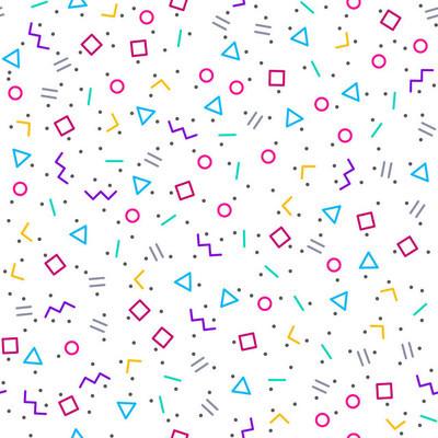 抽象的几何背景,孟菲斯风格