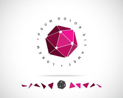抽象矢量 logo 设计模板