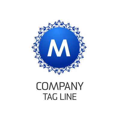 字母 M 公司标志设计