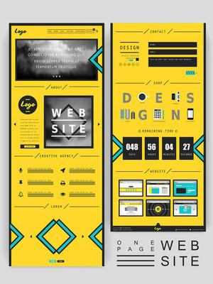 现代创意的单页网站设计