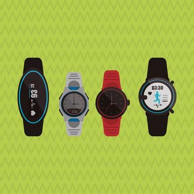 智能手表设计、 矢量图