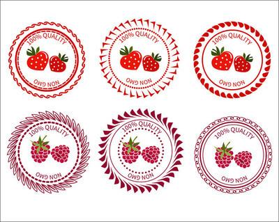 Logo strawberries and raspberries