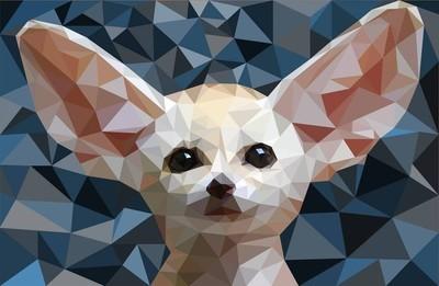 低聚狐狸 Fennec 矢量图