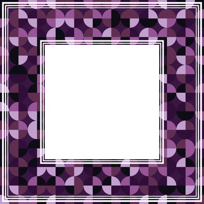 深紫罗兰色抽象边框