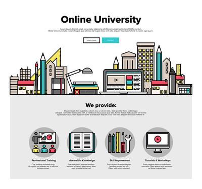 Internet campus  web graphics