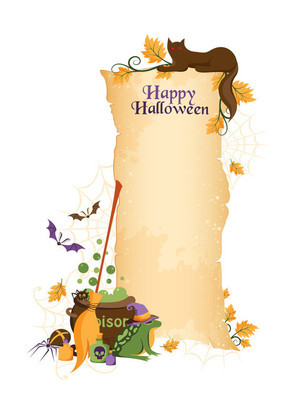 Halloween banner with decorative elements