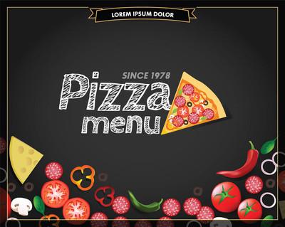 披萨菜单模板