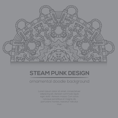 蒸汽朋克矢量设计与工业技术元素
