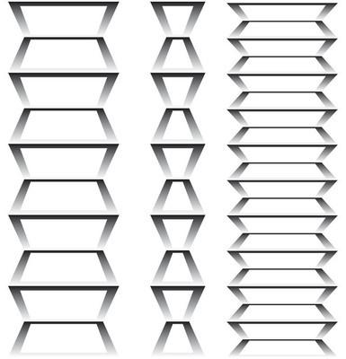 图几何与渐变矢量 3d