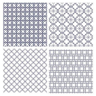 几何单色线条图案集