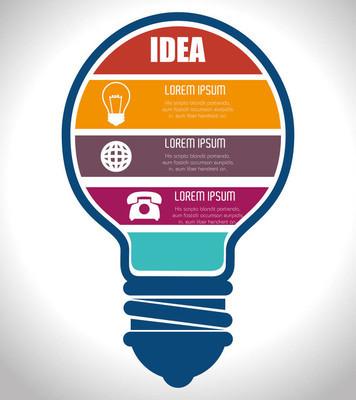 灯泡光大创意概念
