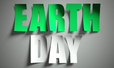 在背景上由纸剪成的世界地球日