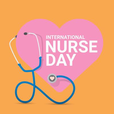 矢量国际护士日矢量标签