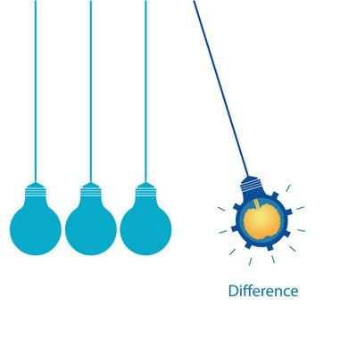 创意灯泡与大脑