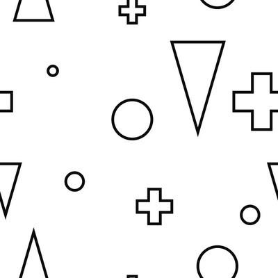 Geometric minimalist modern seamless white pattern
