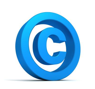 Copyright symbol concept  3d illustration