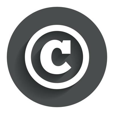 版权符号图标。版权的按钮