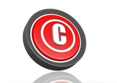 版权的圆形图标