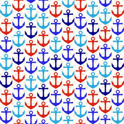 无缝花木航海主题矢量背景或壁纸