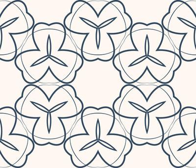 与对称几何装饰图案