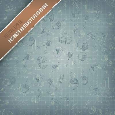αφηρημένες γραφικές παραστάσεις και γραφήματα επιχειρησης. διάνυσμα, eps 10