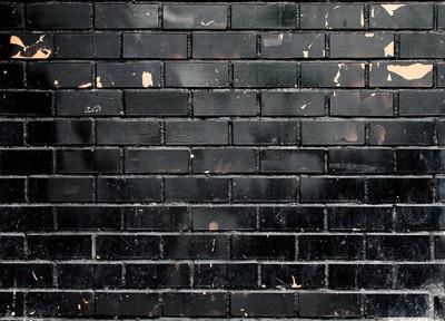 黑砖墙壁纹理