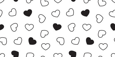heart Seamless pattern love valentine day vector isolated icon background wallpaper