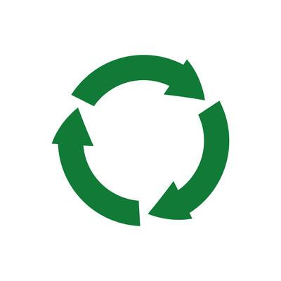 箭头循环圈有机生态图标。矢量图形