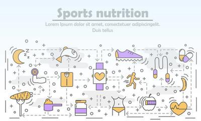 平面线形文体中的体育营养广告载体图解