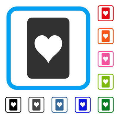 红心赌博卡框图标