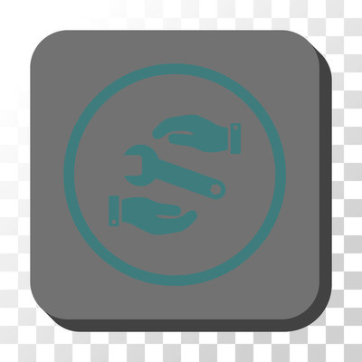 服务圆形方形矢量按钮