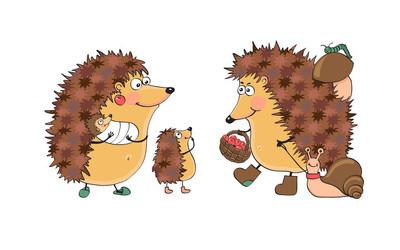 Rodina zábava ježci