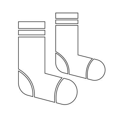 袜子图标插画设计