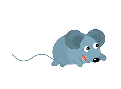 小灰老鼠插画