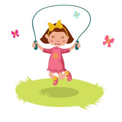 小女孩跳绳,类似 Jpg 副本