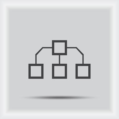 工艺流程图图标矢量。工艺流程图图标 Jpeg