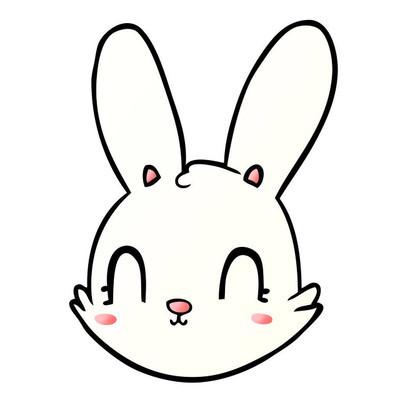 卡通兔子的矢量插画