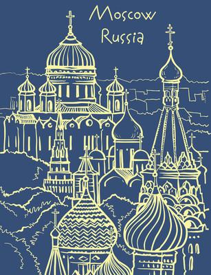 莫斯科的矢量图