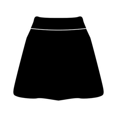 裙子黑颜色图标