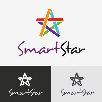 星形矢量 logo 设计模板