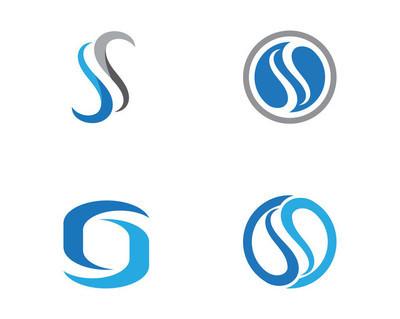 S 字母标志设计矢量