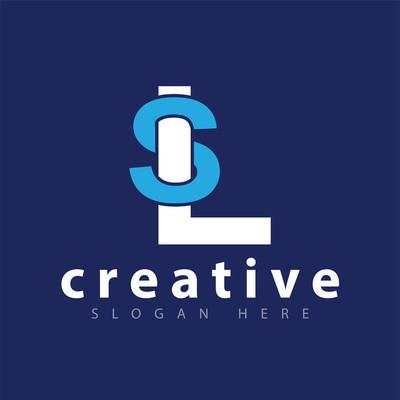 SL Initial letter logo vector