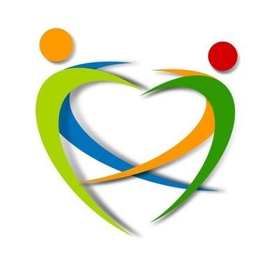 健康抽象 logo 设计
