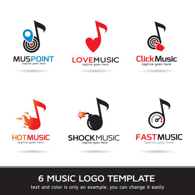 Music Logo Template Design Vector