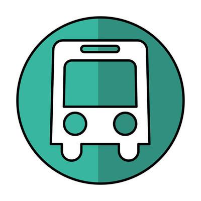 公交车辆孤立的图标